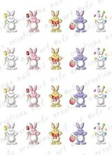"""20 Nail Decals * EASTER BUNNIES """" Water Slide Nail Art Decals  CUTE EASTER NAILS"""