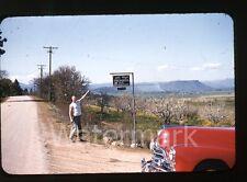 1950s red border Kodachrome photo slide Jacksonville OR Hal-Mar Orchards car