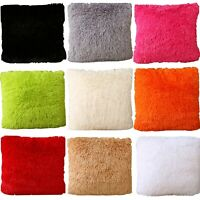 "Set Of 2 Throw Furry Pillow Case Cover Cushion Case 17"" x 17"" ZT24"