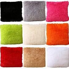 "Set Of 2 Throw Furry Pillow Case Cover Cushion Case 17"" x 17"" ZT24"