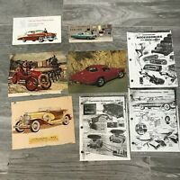 Vintage Chevrolet  Advertising 1950 1960s and Color and Parts Guides 8 Pieces