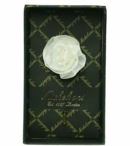Michelsons London Men's White Flower Lapel Pin - NWT - Orig $28
