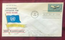 JOHN'S DEALS - US - 1965 FDC SC #1266 UN INTERNATIONAL COOPERATION - FLUEGEL