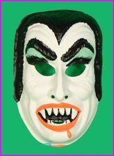 * Childs Dracula Vampire Halloween Mask Costume Kids Horror Monster Vintage NEW