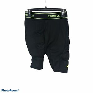 Storelli Unisex Youth  Medium BodyShield Goalkeeper Padded Soccer Sliders Black