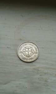 1939 George VI silver threepence low mint year