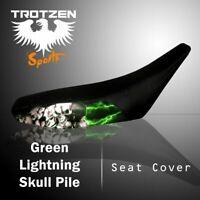 SUZUKI DS 600 1977-79 Green Lightning Skull Pile Seat Cover #mgh4861sc4861