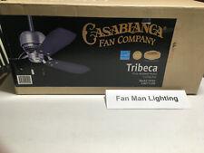 "NEW Casablanca Tribeca Brushed Nickel 52"" Ceiling Fan 59501"