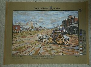 NEW-TAPESTRY CANVAS- COBB & CO COME TO TOWN