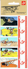 TINTIN KUIFJE 5 TIMBRES STAMPS AVIATION AIRPLANE PLANE TIM STRUPPI 5 Briefmarken