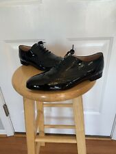 EXTREMELY RARE! New! J. Crew Patent Leather Oxford Shoes Black Size 7.5 Women's