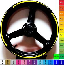 VIVID YELLOW RIM STRIPES WHEEL TAPE DECALS STICKERS Kawasaki Ninja 250 300 500 R