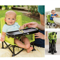 Portable Highchair Booster Seat Summer Infant Pop n Sit 2 in 1  - Green