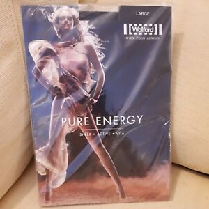 Wolford Pure Energy Nearly Black Tights Size Large