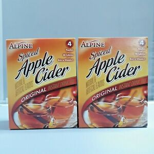 New Alpine Spiced Apple Cider Instant Drink Mix Rich in Vitamin C 4 pouches box