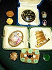 Antique & Vintage Jewellery /gold Inlaid Brooch++++