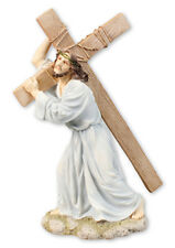 """Jesus Our Lord Carrying Cross - A 12"""" Inch high Veronese Resin Religious Statue"""