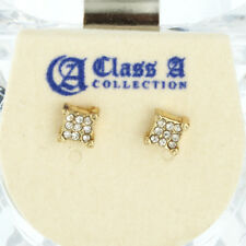 Iced Out Bling Clou d'oreille Box - SQUARE 5mm or