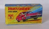 Repro Box Matchbox Superfast Nr. 5 Lotus Europa pink