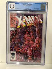 Uncanny X-Men #205 CGC 8.5 White Pages Wolverine Cover Marvel Comics 1986