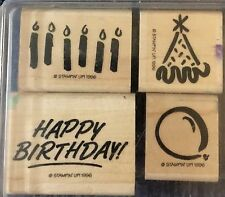 "Stampin' Up! ""Candle Celebration"" Set Of 4 Stamps (1996)"
