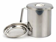 RSVP Bacon Grease Keeper 6 Cup Stainless Steel Fryers Friend Oil Strainer ST80FF