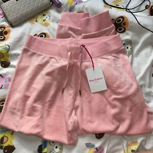 Juicy Couture Velour Bottoms Baby Pink Size S Cuffed BNWT