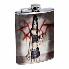 Sexy Bad Girls Pin Up D3 Flask 8oz Stainless Steel Hip Drinking Whiskey Model