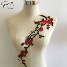 Big Flower Leaf Embroidery Applique Patch Plum Blossom Flower Patch 13*4inchTZT