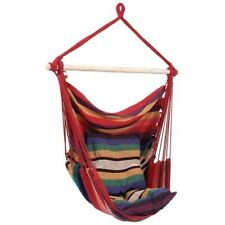Multi-Color Red Hanging Rope Chair Porch Swing Seat Relax Max. 265 lbs