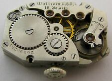 Waltham rectangle wrist Watch 15 jewels for part 25.7 x 16.5 mm