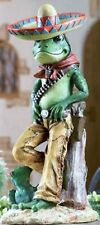 Senor Frogs Gnomes with Guns Outdoor Lawn and Garden Mexican Decor Statues