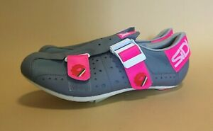 SIDI Grey & Pink Cycling Shoes in Box - EU 42 - Made in Italy - VGC