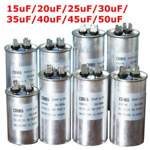 15/20/30/40/50uF CBB65 AC 450V Start Motor Capacitor Air Conditioner AU