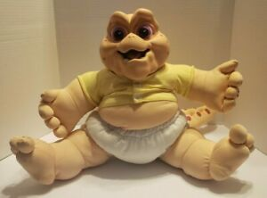 1991 - HASBRO -Dinosaurs TV Show - Talking Baby Sinclair Pull String - Works