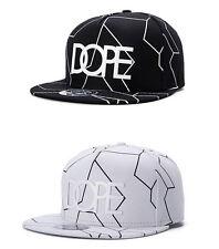 White Dope Emblem Crackle Lines Flat Cap Hiphop Dancer Snapback Baseball Hat/Cap
