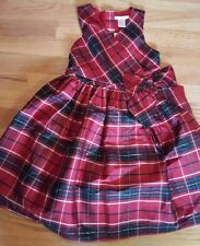 New Janie and Jack Girls Size 5 Red Plaid Christmas Dress Holiday Fancy