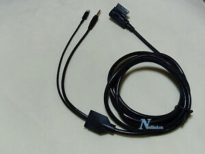 MERCEDES BENZ iPHONE 5 5C 5S 6 6 plus AUX CABLE 8-PIN ADAPTER 2 Meters