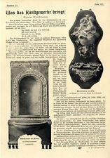Dr.Felix Poppenberg Moderne Wandbrunnen Jugendstil Kunstgewerbe Zinn Marmor 1901