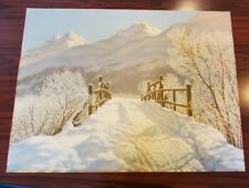 Vintage Print Ivan F. Choultse Russian 1930's Snow Winter Scene