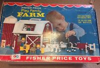 Vintage Fisher Price Little People Farm #915 COMPLETE with Box Barn Silo Animals