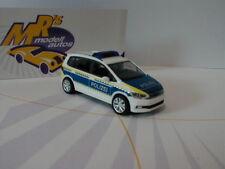 """Herpa 093576 - Volkswagen Touran """" Polizei Brandenburg """" weiß-blau-gelb 1:87 NEU"""