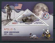 Ivory Coast 2016 MNH Apollo 45th Anniv Scott Irwin Worden 1v S/S Space Stamps