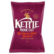 Kettle Barbecue Beef Brisket Crisps - Box of 18x 40g Packets - NEW & SEALED