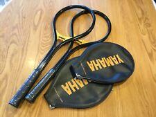 Rare Vintage Yamaha Fiberglass Yfg 10 Tennis Rackets 4 5/8 *New*Matched Pair