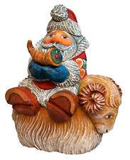 The Holiday Aisle Fifield Santa on Sheep Figurine Ornament