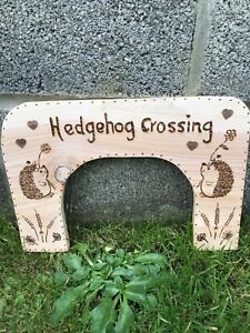 Hedgehog Crossing for garden fence