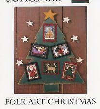 Prairie Schooler - Folk Art Christmas Santa Cross Stitch Pattern OOP Card Stock