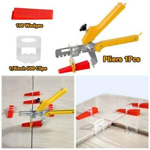 "500PCS 1/8"" 3mm Clips Tile Leveling System Kit Floor Wall Spacer Tiling Tool Set"