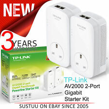 TP-Link AV2000 2-Port Gigabit Powerline Starter-TL-PA9020P KIT│For Home Plug AV2